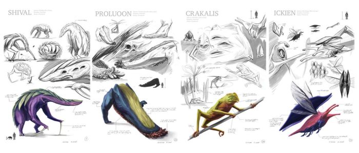 sketches for senior thesis organisms by MackinX