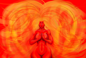 Fire Spirit by Kitkatinahat