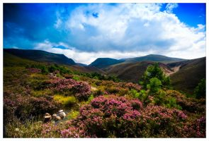 Approaching the Lairig Gru by moinerus