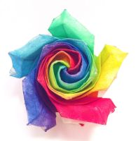 Origami Rainbow Rose (v1) by refold
