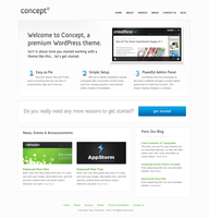 Concept - Wordpress - Home by escapepodone