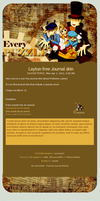 Professor Layton Free Journal Skin by pomppet