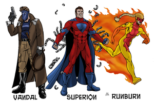 SUPERS! game characters by Joe-Singleton