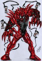 spiderman venom carnage merge by darkartistdomain