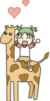 Yotsuba on a Giraffe by egg-chan