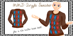 MMD Male Argyle Sweater by Tehrainbowllama