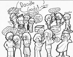DOODLE GODS: coloring page by Rei-Yami-Hikari