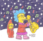 Lisa and Maggie's Winter by MarioSimpson1