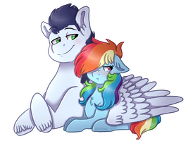 Collab: Wing-hug by KikiRDCZ