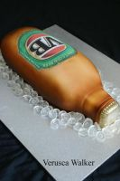 beer bottle 2D cake by Verusca