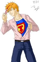 Ichigo as Superman by ryuomaru