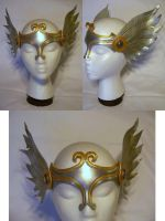 Silver and Gold Winged Valkyrie Circlet by MirabellaTook