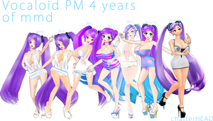 Vocaloid PM 4 years of MMD by chatterHEAD