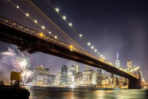 Fireworks by Brooklyn Bridge by NEOkeitaro