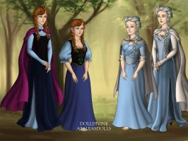 frozen anna and elsa and anna and elsa as hobbits by art-is-my-bream