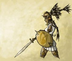 Female Warrior Colored by Sodano