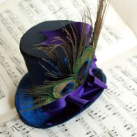 Peacock Mini Top Hat by RagDolliesMadhouse