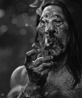 Danny Trejo caricature by norbface