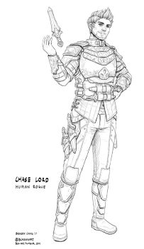 C: Chase Lord, Human Rogue by bchart