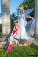 Sailor Moon and Queen Serenity by NikitaCosplay