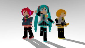 DotPic Teto, Neru and Miku MMD download by Reon046