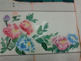 Chinese Flower Painting II by Wumzie