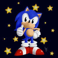 Classic Sonic The Hedgehog by amyrose7