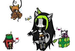 .:G-Attack of the Birthday Chibis!:. by SunshinetheCat