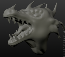 Roaring Dragon sculpt 1 by DragonLover4Ever