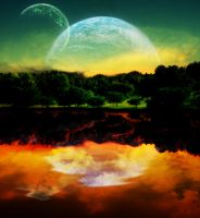Alien Red Lake by Madhatterl7