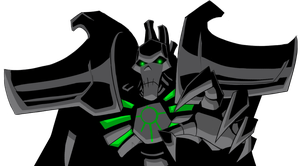 Not amused necron lord by Littlecutter