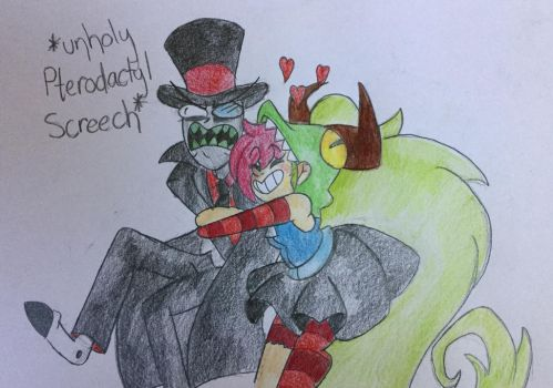 Unholy Pterodactyl Screeches by MsCreepyPlagueDoctor