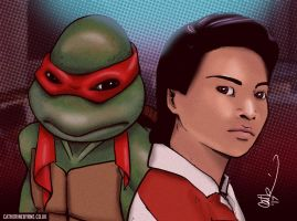 Raph and Keno from TMNT II by CatByrne