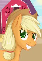 Applejack Portrait by Plazyma