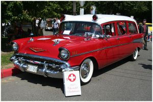 57 Chevy Ambulance by indigohippie