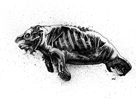 zombie manatee by cadaverperception