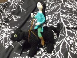 Crochet doll and panther by ShadowOrder7