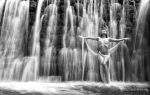 Under waterfall by Evejo