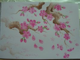 cherry blossom no outline by AsatorArise