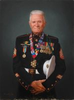 John Cole Korean War Vet 18x24 Oil on Canvas by BClary