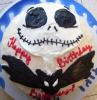 Jack Skellington Cake by zoro-swordsman