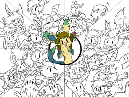 HUUUGE Group Pic WIP by FENNEKlNS
