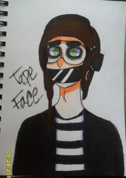 Tape Face by AwesomeAsIWannaBe