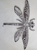 Zentangle dragonfly by luzilla