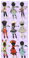 CLOSED: WINTER CLOTHES AUCTION by Lolisoup