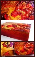 Fire Dragon's Treasure Chest by TrollGirl