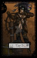 Steampunk Tarot The Pilot by TheBlindProphetess
