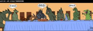 -A kaiju Thanksgiving- by Ravenfire5