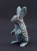 Steampunk rabbit by hontor