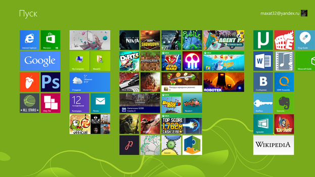 Games icons for Windows 8 start by MaxatdesigN